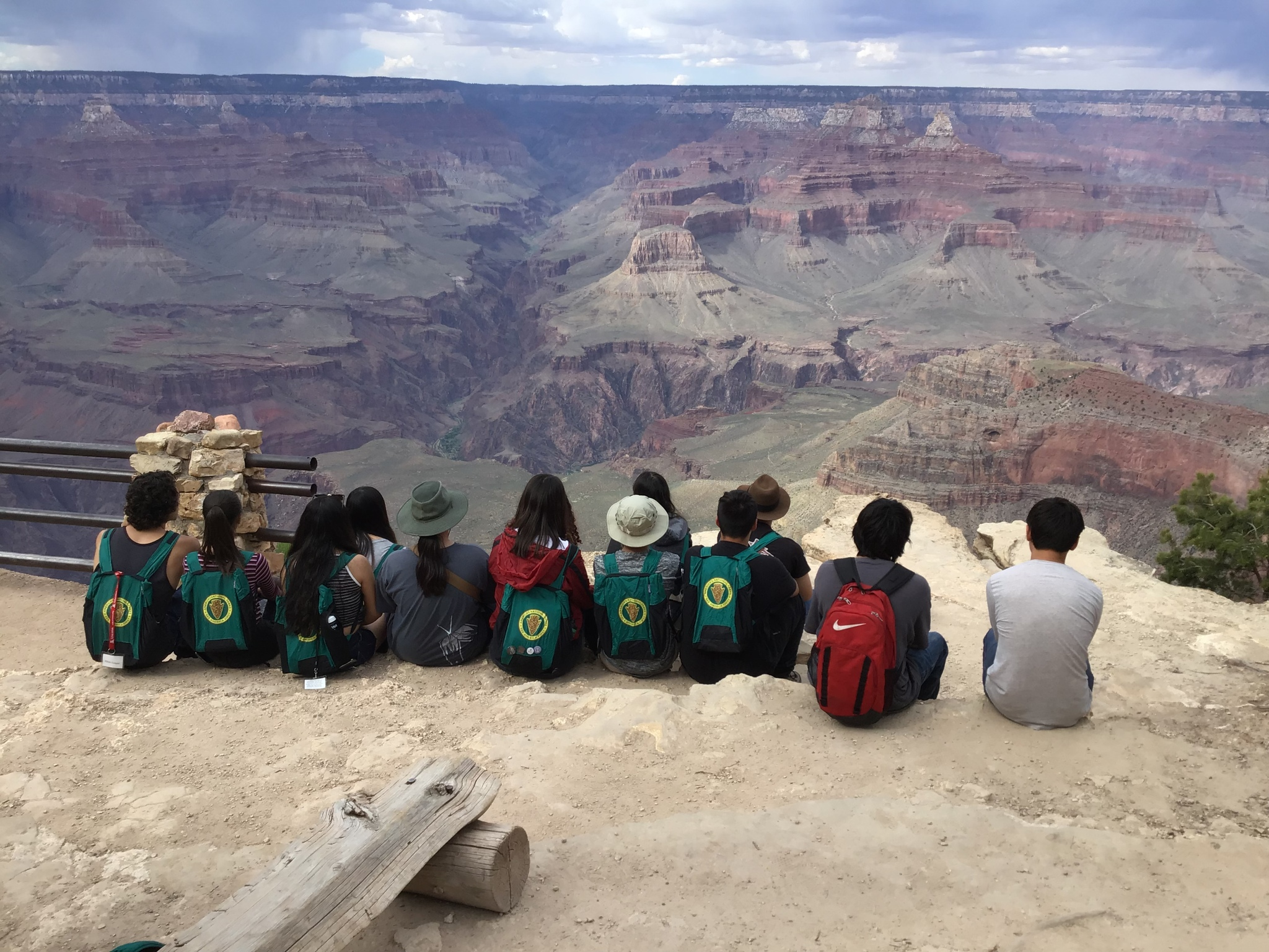 students at grand canyon
