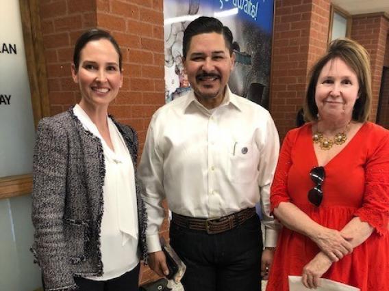 Francesca Lopez, Richard Carranza, Robin Hiller group photo