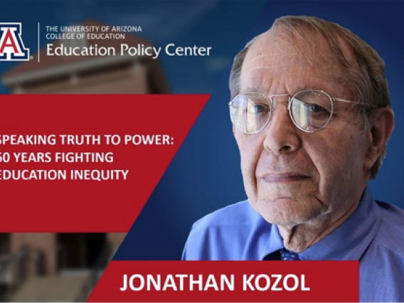 Jonathan Kozol pictured on event flyer