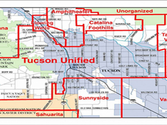 map of school districts with boundaries