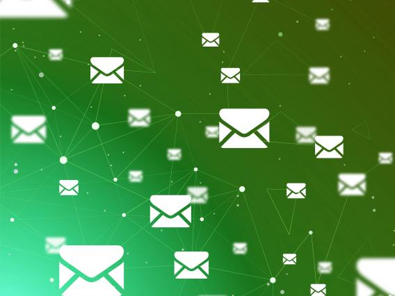 abstract image of emails
