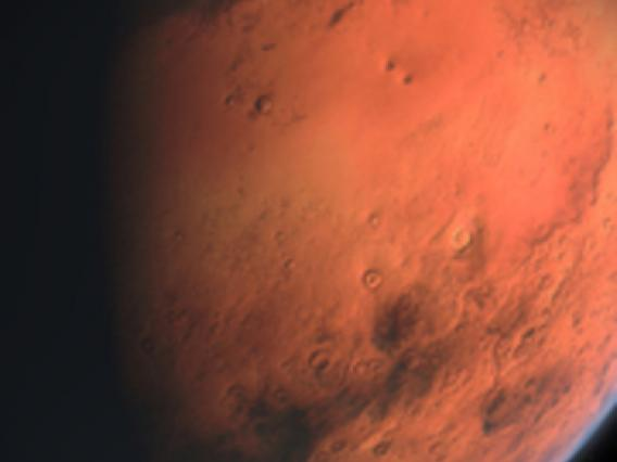 close up of planet Mars