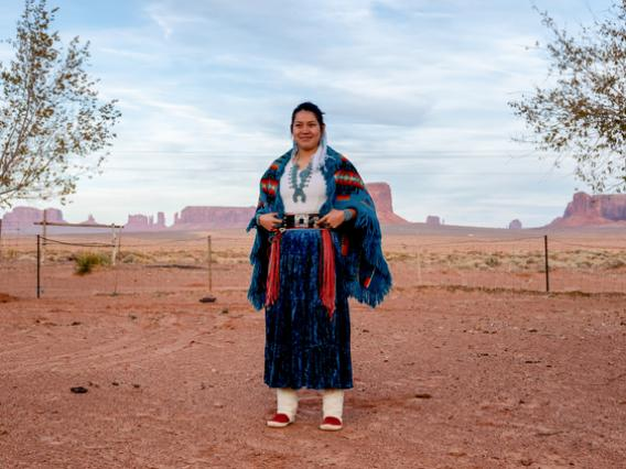 navajo teen in monument valley