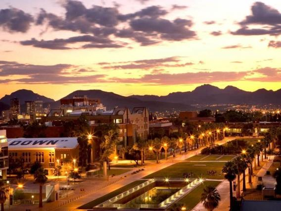 university of arizona at sunset