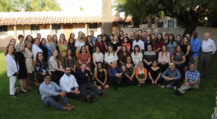 Arizona Teaching Fellows Group Picture Outdoors on Lawn