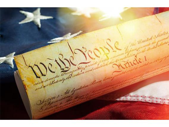 constitution on the american flag