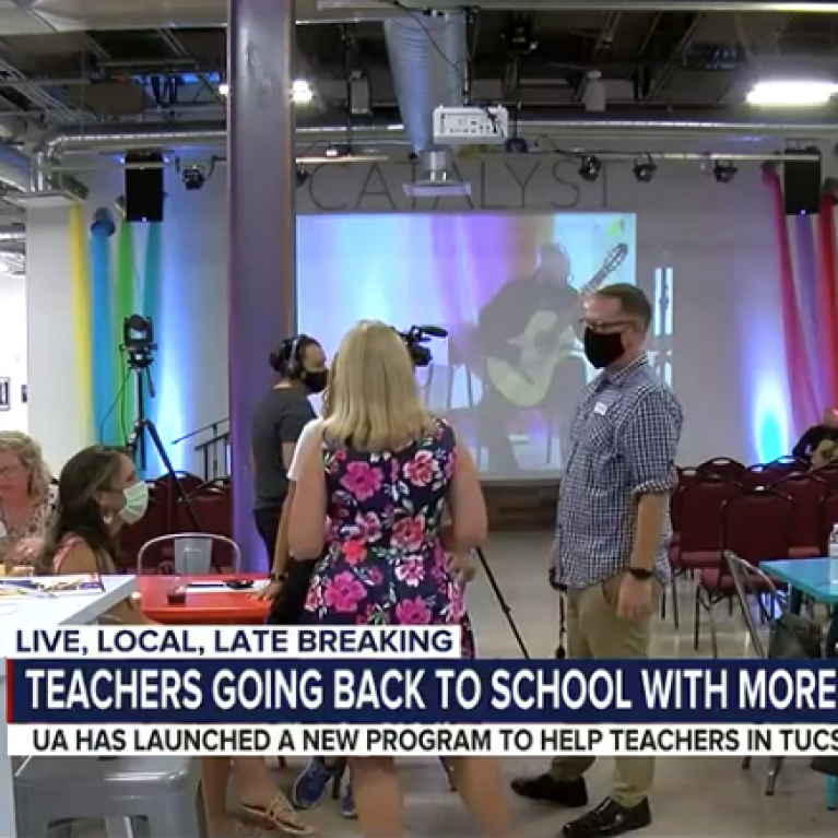 classroom full of people featured on news