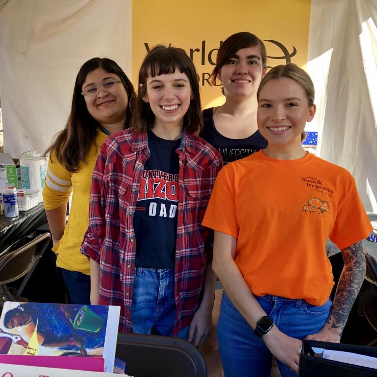 Pictured, left to right: Paola Cruz, Anna Gerwig, Alex Hulslander, Lacey Nehls