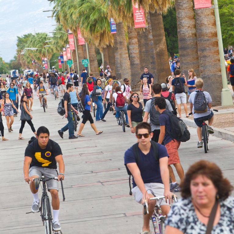 students on UA Mall