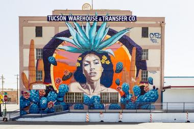 woman agave mural
